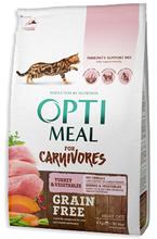 OPTI MEAL - Bezzbożowa karma z indykiem i warzywami dla kota