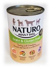 NATURO Indyk z żurawiną - bezzbożowa, hipoalergiczna mokra karma dla psa 390g
