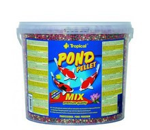 TROPICAL POND PELLET MIX - wieloskładnikowy pokarm w formie pływającego pelletu w wiadrze 5l