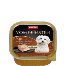 ANIMONDA Vom Feinsten Classic - mokra karma z wołowiną, jogurtem i płatkami 150 g
