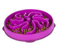 Outward Hound Fun Feeder Slo-Bowl - miska spowalniająca jedzenie dla psa. Fioletowa