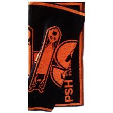 PSH - ręcznik do kąpieli psów 50 cm x 102 cm, kolor czarno-pomarańczowy