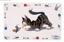 TRIXIE Podkładka pod miski dla kota z motywem Kot