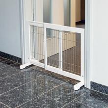 TRIXIE Drewniano metalowa barierka dla psa w kolorze białym