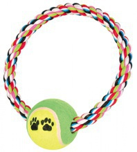 TRIXIE Piłka tenisowa na sznurku Denta Fun