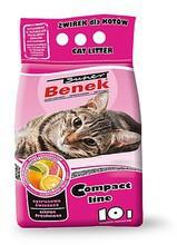 BENEK Super Compact Cytrusowa Świeżość - żwirek dla kota o cytrusowym zapachu