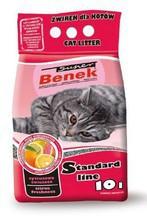 BENEK Super Cytrusowa Świeżość - żwirek dla kota o cytrusowym zapachu