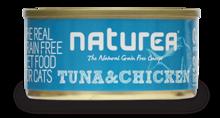 NATUREA Grainfree Tuńczyk i Kurczak - bezzbożowa mokra karma dla kotów 80 g