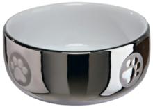 TRIXIE Miska ceramiczna w kolorze srebrnym dla kota 0,3l