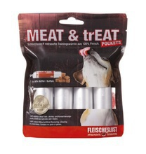 MEATLOVE MEAT & trEAT BUFFALO Bizon mokra karma dla psów 4x40g