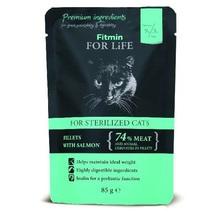 FITMIN For Life Cat Pouch Sterilized Salmon mokra karma saszetka dla kota 85g