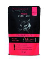 FITMIN For Life Cat Pouch Adult Beef mokra karma saszetka dla kota 85g