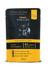 FITMIN For Life Cat Pouch Adult Chicken mokra karma saszetka dla kota 85g