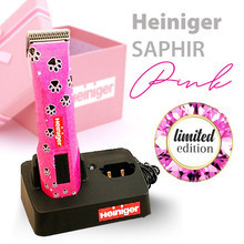 Heiniger Saphir - maszynka bezprzewodowa, edycja limitowana - różowa w łapki