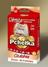 PCHEŁKA Obroża przeciw pchłom i kleszczom dla kota, kolor czerwony 20cm-30cm