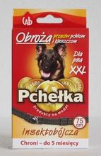 PCHEŁKA Obroża dla psa XXL przeciw ektopasożytom, kolor czarny, 75 cm