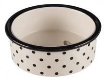 TRIXIE Ceramiczna miska Zentangle dla kota w kolorze biało-czarnym