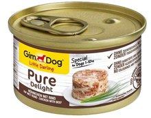 GIMDOG Little Darling Pure Delight - karma z kurczakiem i wołowiną dla psa 85g