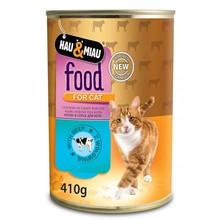 HAU&MIAU Food For Cat Wołowina w sosie - Mokra karma dla kota 410g