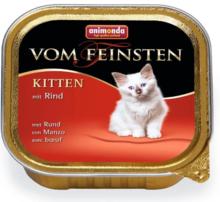 ANIMONDA Vom Feinsten Kitten Wołowina - Pełnowartościowa karma dla kociąt, 100g