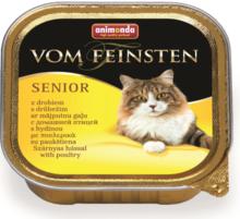 ANIMONDA Vom Feinsten Senior z drobiem - Pełnowartościowy posiłek dla starszych kotów, szalka 100g