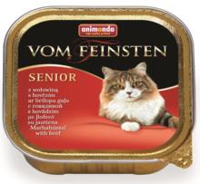 ANIMONDA Vom Feinsten Senior z wołowiną- Pełnowartościowy posiłek dla starszych kotów, szalka 100g