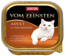 ANIMONDA Vom Feinsten Adult Wątróbka z kurczaka - Pełnowartościowy posiłek dla dorosłych kotów, 100g