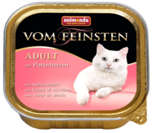 ANIMONDA Vom Feinsten Adult z sercami indyczymi - Pełnowartościowy posiłek dla dorosłych kotów, 100g