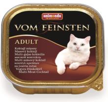 ANIMONDA Vom Feinsten Adult Koktajl mięsny - Pełnowartościowy posiłek dla dorosłych kotów, 100g