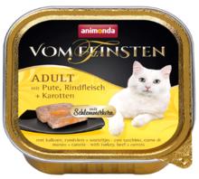 ANIMONDA Vom Feinsten Adult Indyk, wołowina i marchew - Pełnowartościowy posiłek dla dorosłych kotów, 100g