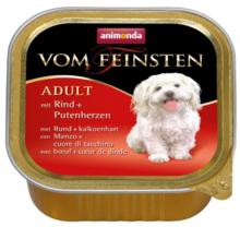 ANIMONDA Vom Feinsten Classic Wołowina + Serca indycze - karma dla dorosłego psa, szalka 150g