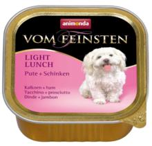 ANIMONDA Vom Feinsten Light Lunch, Indyk + Szynka - karma dla psa z nadwagą, szalka 150g