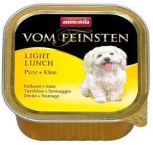 ANIMONDA Vom Feinsten Light Lunch, Indyk + Ser - karma dla psa z nadwagą, szalka 150g