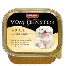 ANIMONDA Vom Feinsten Adult Wołowina + ziemniaki - karma dla dorosłego psa, szalka 150g