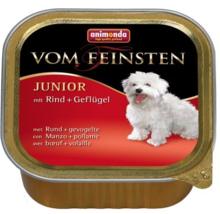 ANIMONDA Vom Feinsten Junior Wołowina + Drób - mokra karma dla szczeniąt, szalka 150g