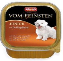 ANIMONDA Vom Feinsten Junior Wątróbka drobiowa - mokra karma dla szczeniąt, szalka 150g