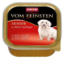 ANIMONDA Vom Feinsten Senior Wołowina + Drób - mokra karma dla starszych psów, szalka 150g