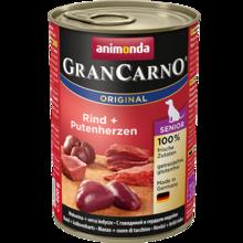 ANIMONDA Grancarno Senior Wołowina + Serce indyka- karma dla starszych psów, puszka 400 i 800 g