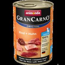ANIMONDA Grancarno Junior Wołowina + Kurczak - karma dla szczeniaków, puszka 400 i 800 g