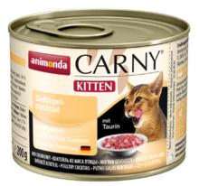 ANIMONDA Carny Kitten Koktajl drobiowy - smakowita mokra karma dla kociąt, puszka 200 i 400g