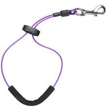 Groom Professional - linka stalowa w oplocie, długość 38 cm, fioletowa