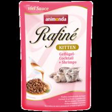 ANIMONDA Rafiné Soupé Kitten, Mix drobiowy + krewetki - mokra karma dla dorosłych kotów, 100g