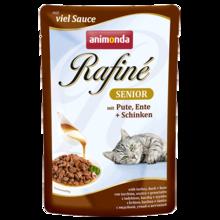 ANIMONDA Rafiné Soupé Senior, Indyk, kaczka + szynka - mokra karma dla dorosłych kotów, 100g