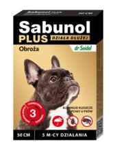 SABUNOL PLUS Obroża przeciw kleszczom i pchłom dla psa, 50cm