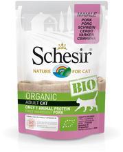 SCHESIR BIO Organic z wieprzowiną saszetka dla kota 85g