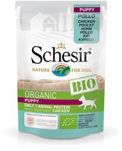 SCHESIR BIO Organic Puppy z kurczakiem saszetka dla szczeniąt 85g