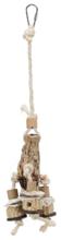 TRIXIE Naturalna zabawka z mahoniu dla papug