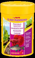 SERA FD Bloodworms - Przysmak dla ryb, 100% z czerwonych larw komarów.
