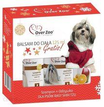 OVER ZOO Zestaw świąteczny dla psów rasy Shih Tzu Szampon 250ml + Odżywka 250ml + Balsam do ciała Over Cosmetics 125ml