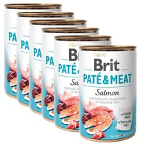 BRIT Pate&Meat Salmon 6x400g PAKIET! mokra karma z łososiem dla psa